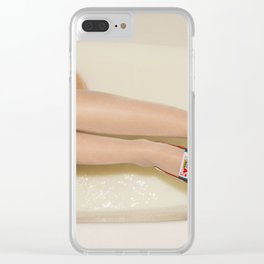 The queen is thirsty. Really, really thirsty Clear iPhone Case