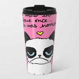 Grumpy Cat Love Metal Travel Mug