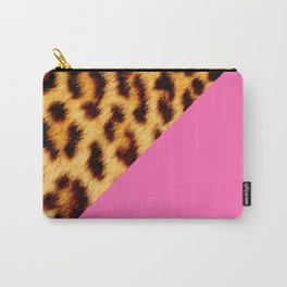 Leopard skin with hot pink II Carry-All Pouch