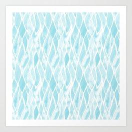 Sand Flow Pattern - Light Blue Art Print