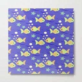 Tropical Yellow Fish Metal Print