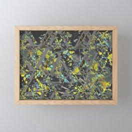 TRI-ANGLES green Framed Mini Art Print
