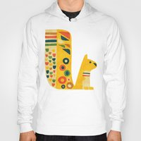 mid century Hoodies featuring Century Squirrel by Picomodi