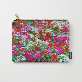 Colorful Petunia Flowers Carry-All Pouch
