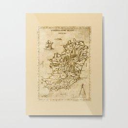 Map of Ireland 1570 Metal Print