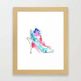 Wing Shoes Framed Art Print