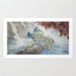 Peacock's Morning Art Print