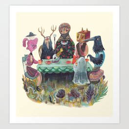 The Art of ruining conversation at dinner parties Art Print