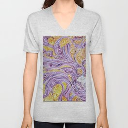 Swirling LADY Unisex V-Neck
