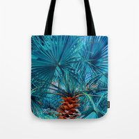 palm tree Tote Bags featuring Palm Tree by DistinctyDesign