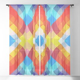 Retro Rocket 20 Sheer Curtain