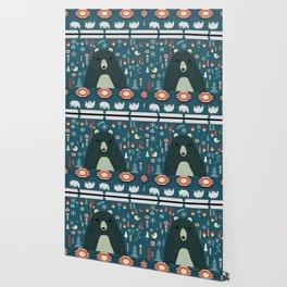 Bear Christmas decoration Wallpaper