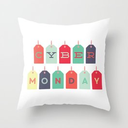 Cyber Monday Sale Time Throw Pillow