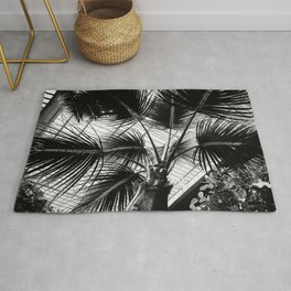 Palm Tree Glass Ceiling Abstract Rug