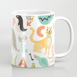 Children Alphabet Seamless Pattern Coffee Mug