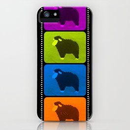Mixed Sheeps iPhone Case