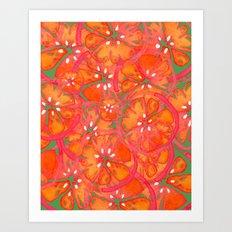 Watercolor Oranges Art Print