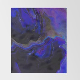 Dark Purple Blue Galaxy - Midnight Shades Throw Blanket