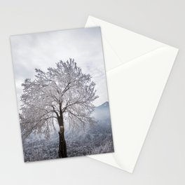 Frosted Tree Stationery Cards