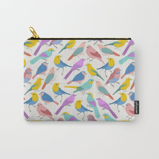 Dazzling Colored Bird Pattern Carry-All Pouch