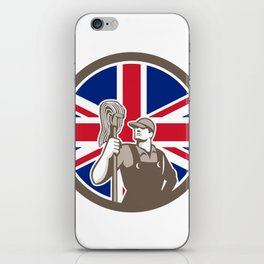 British Industrial Cleaner Union Jack Flag Icon iPhone Skin