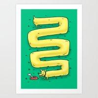 Infinite Wiener Dog Art Print