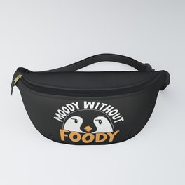 Moodie Without Foodie Food Lover Penguin Ice Bird Fanny Pack