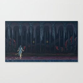 Lurker in the Darkness Canvas Print