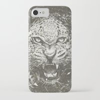 leopard iPhone & iPod Cases featuring LEOPARD by Stefania Grippaldi