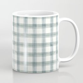 watercolor plaid - muted blue Coffee Mug