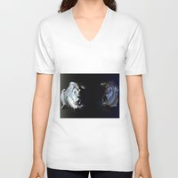 lions V-neck T-shirts featuring Lions' choir by Eric Bassika