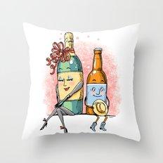 Bottled Romance Throw Pillow