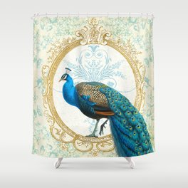 Paris Peacock Shower Curtain