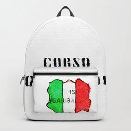 Italian flag painted of Corso Garibaldi Backpack
