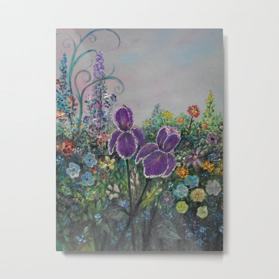 Garden in Bloom-final finished -true to color Metal Print