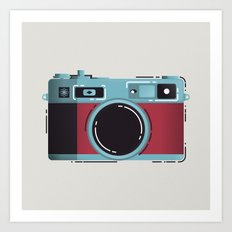 Little Yashica Camera Art Print
