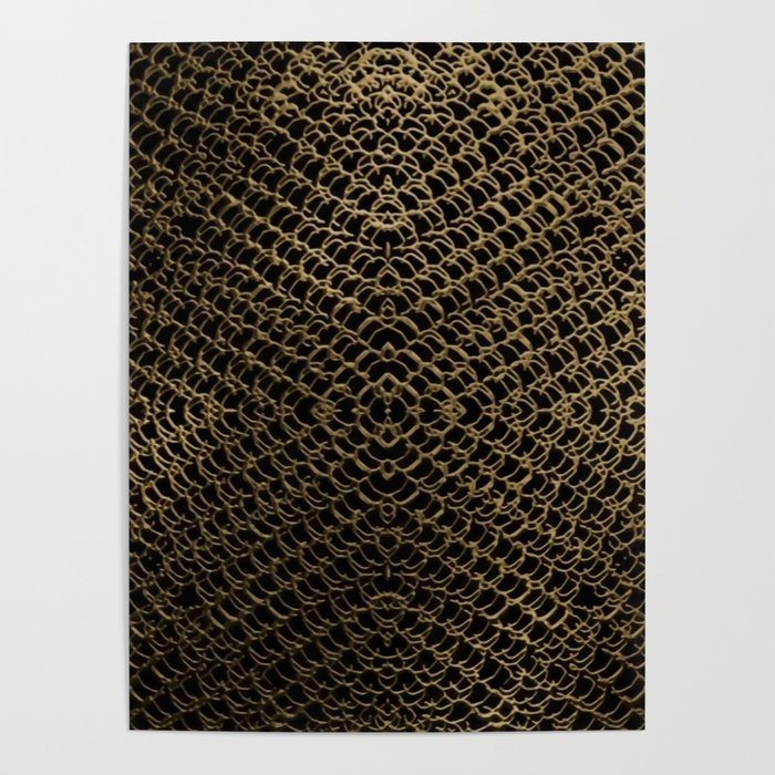 Gold Chain Mail Poster