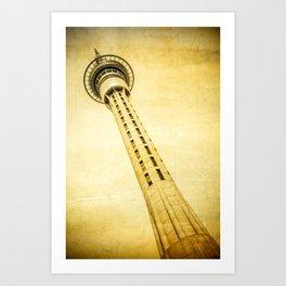 Sky Tower Auckland Art Print