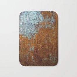Rust Texture Painting Bath Mat