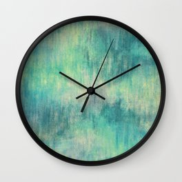 Soft Green Teal Wash Wall Clock