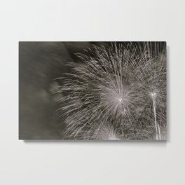 July 4th Celebrations in Seattle Black and White Fine Art Metal Print