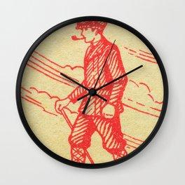 Old Matchbox label #12 Wall Clock