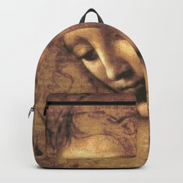 Leonardo da Vinci - Head of a Young Woman, La Scapigliata Backpack