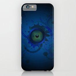 Grunge loudspeaker iPhone Case