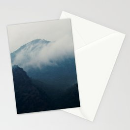 Moody Fog Over Mountain Stationery Cards