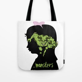 Monsters…hiding in our heads…OPTION Tote Bag