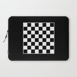 Vintage Chessboard & Checkers - Black & White Laptop Sleeve