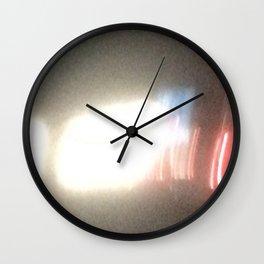 Abstracte Light Art in the Dark Version 30 Wall Clock