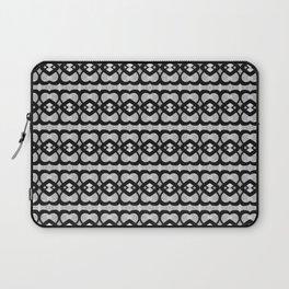 Heartlines gray pattern Laptop Sleeve