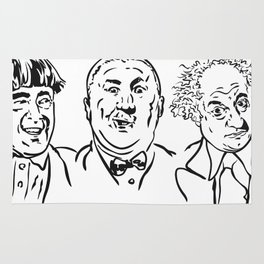 Stooges Moe, Curly and Larry Rug